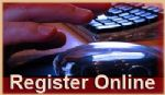 Hand on Mouse with Words: Register Online